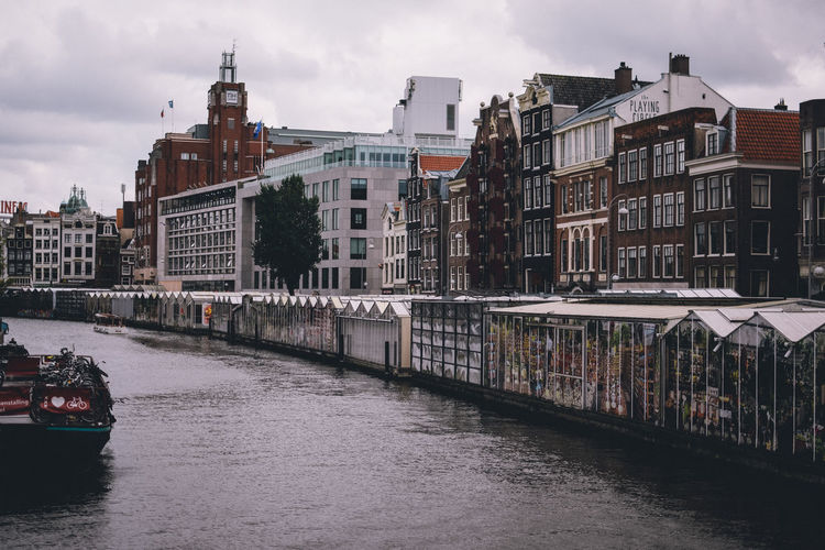 Building Exterior Built Structure Architecture Water Transportation City Sky Building Waterfront Nautical Vessel River Mode Of Transportation Cloud - Sky Nature Residential District Bridge Connection Travel Destinations No People Bridge - Man Made Structure Outdoors Passenger Craft Amsterdam EyeEm Best Shots EyeEm Selects