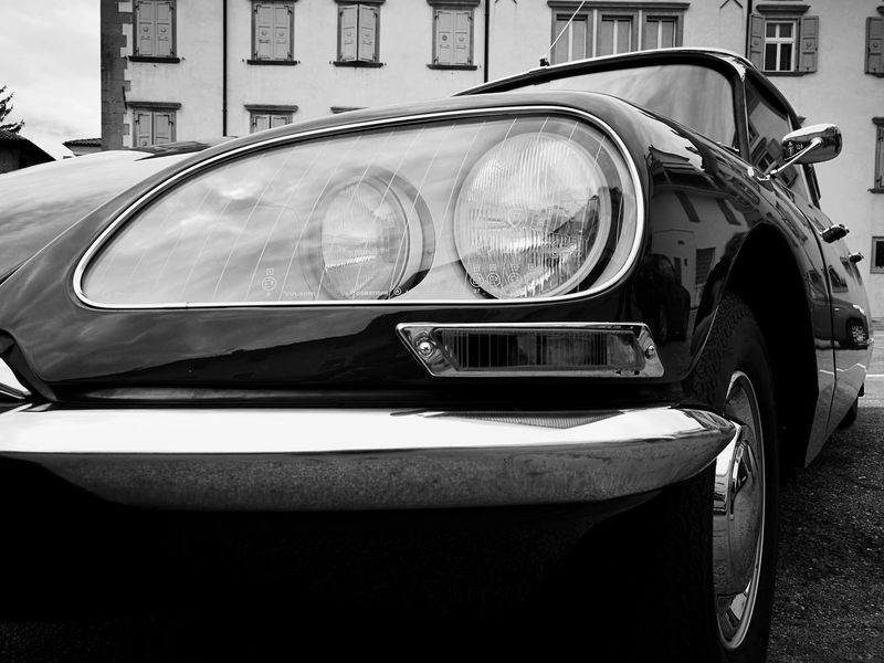 Eye detail, Italy Land Vehicle Car No People Outdoors Close-up Vintage Cars Street Photography Blackandwhite Photography