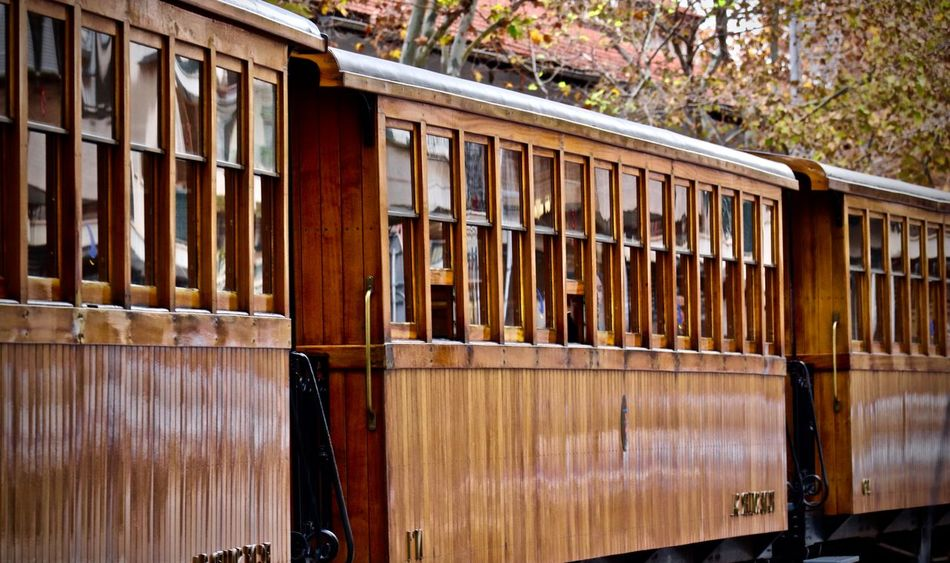 Train de Soller Autumn Collection Autumn Colors Autumn Leaves City Palma De Mallorca Soller, Mallorca Tram Wood Train Architecture Close-up Day Daylight No People No Person Outdoors Streetphotography Train Train - Vehicle Train De Soller Trainstation Vehicle Vehicle Part Wood - Material