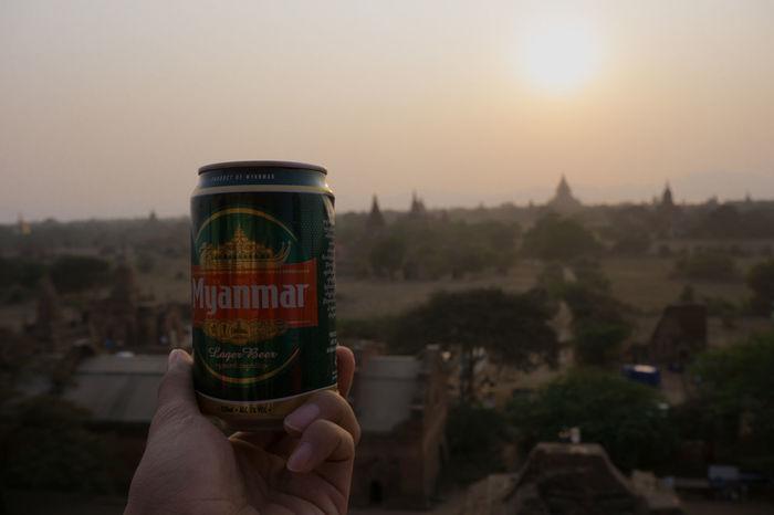 Ba Beer Dusk Myamar Myanmar Beer Sunset