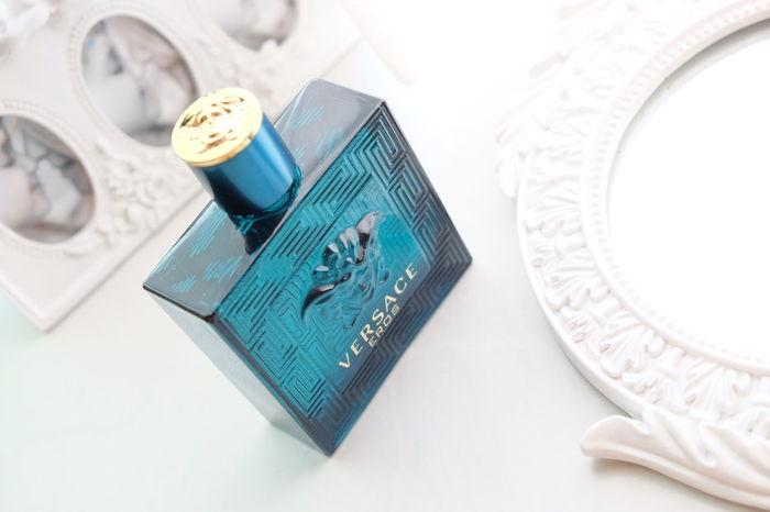 Blue in the blank Perfumecollection Eau De Parfum Perfumes Photography Blue Eau De Toilette Photoshoot Scent Versace Eros Versace Versace Versace