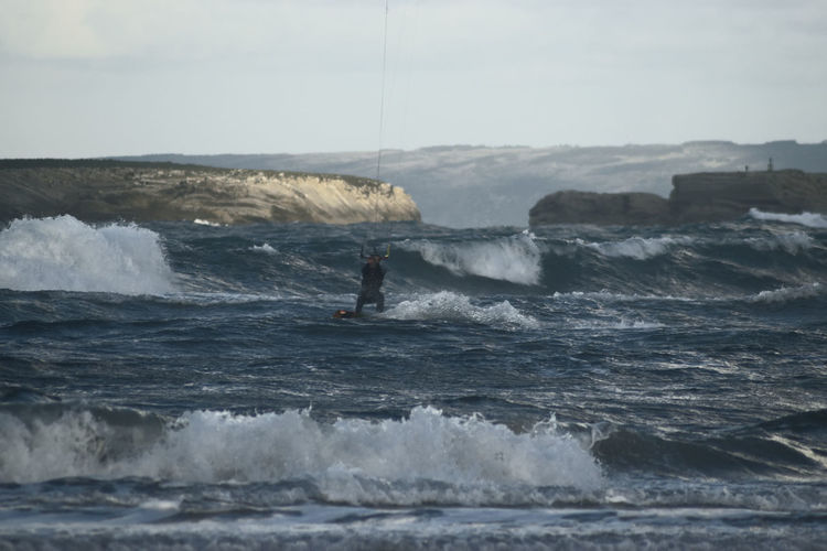 Kite surfer on