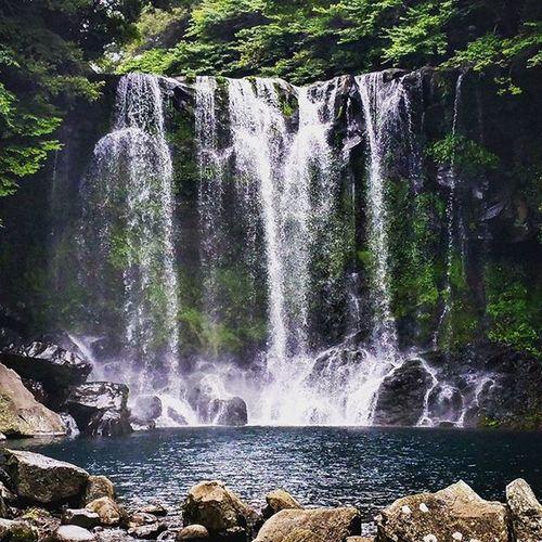 Cheonjeyeon Waterfall Jeju Island jejuisland korea paradise