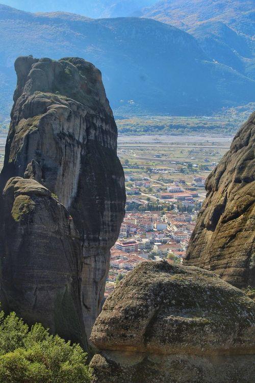 Kalampaka City Καλαμπακα Kalampáka Meteora Mountain View From The Top Nuture Bigrocks Miracle Bestplace No People Sky