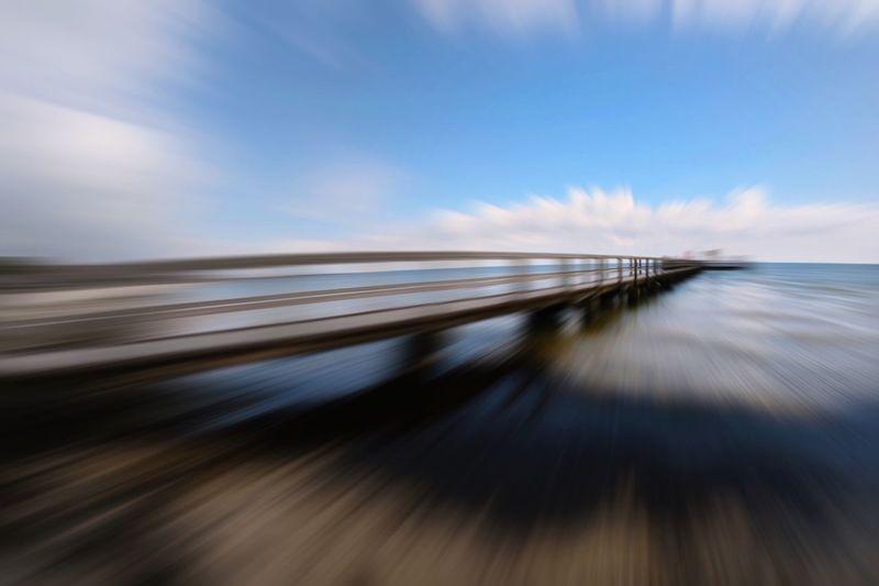 The Week On EyeEm Blurred Motion Speed Transportation Long Exposure Sky Nature Tadaa Community Water Bridge Ostsee Ostseeküste