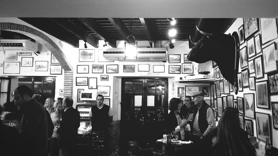 Tapa moments. The best place for the best tortillitas de camarones (shrimps fritters). Ever. Sanlucar Tapas Tortillitas De Camarones Black And White