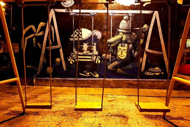 Always keep your inner child alive Childhood Children Only Kid Playground Playground Graffiti Art Painting Art Child Playground Kids Photography Inner Child Colourful Wolf Having Fun Enjoy Beautiful Art Is Everywhere ArtWork Art Night Photography Artistic Photo Artistic Painted Wall Outdoor Photography Architecturelovers Kids Of EyeEm Love Hippie Night Shot No People Outdoors Night