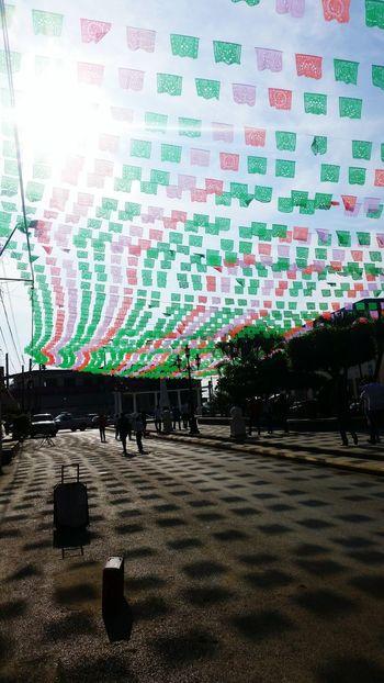 Banderines Tricolor Mexico
