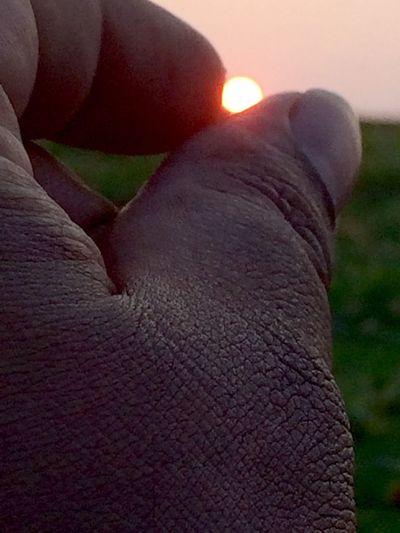 """Sun Set"" through my fingers"