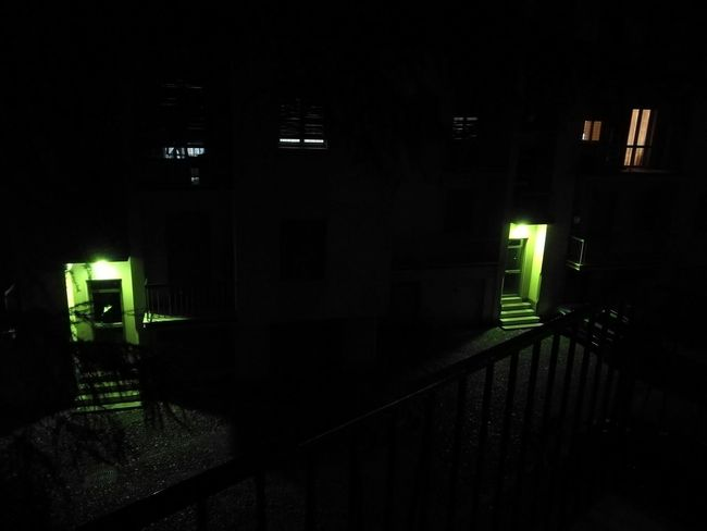 Illuminated Dark Building Exterior Night Built Structure Architecture Outdoors Lit Darkness Entryway No People Façade Exterior Darkroom At Home Brescia, Italy Brescia Italy Italia