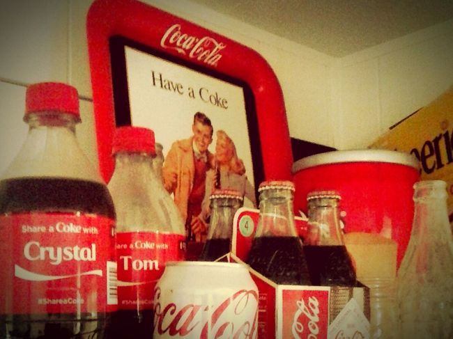 My Country In A Photo American Made Coca Cola Capialism Antique Collecable Coke Problem