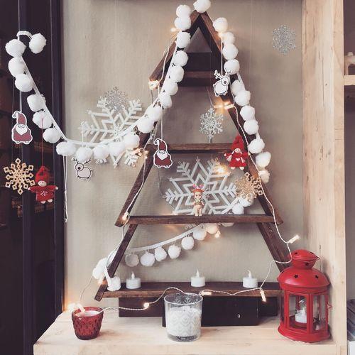 Illuminated christmas decoration at home