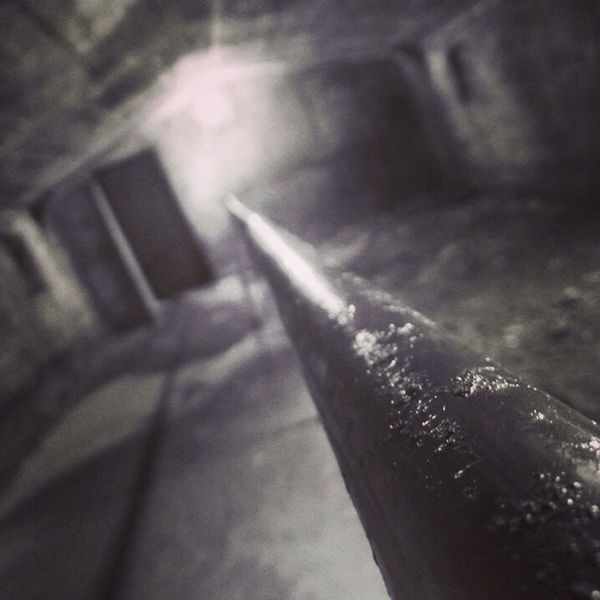 Liverpool Mersey Tunnels Underground Black And White