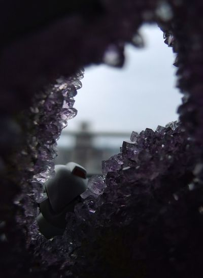 It's the bitty things. 😀 Little Things Around The House Looking Through Amethyst Geode Photography Humor Toy Nature Day Close-up
