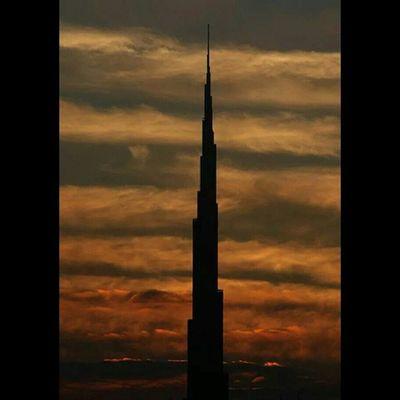 Dubai Burj_khalifa Sunset
