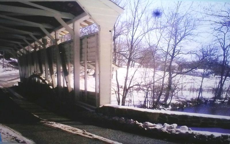 Showcase: January Beautiful Its Cold Outside Taking Photos Photos By Jeanette Covered Bridge Snow Snow Covered Creek Relaxing Peaceful Enjoying Life Peaceful And Serene Pastel Power Done That.