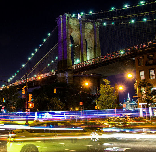 Learn & Shoot: After Dark Brooklynbridge City Lights Traffic Lights Traffic Flow New York City Nightphotography Night Photography Fulton Landing