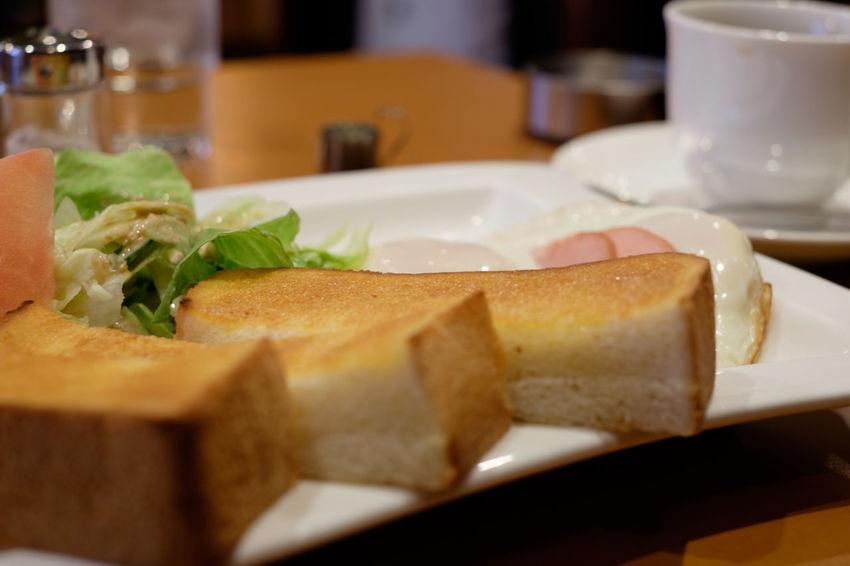 市川の珈琲タンネ Breakfast Close-up Food Food And Drink Fujifilm Fujifilm_series Fujifilm_xseries Ham And Egg  Meal Plate Toast トースト ハムエッグ モーニング 朝食