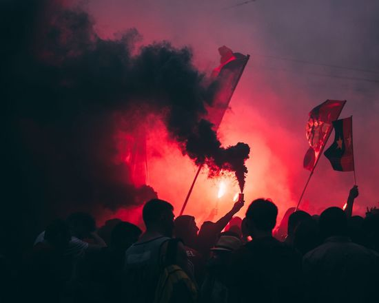 Real People Large Group Of People Event Men Crowd Women Togetherness Silhouette Standing Outdoors Audience Fan - Enthusiast The Photojournalist - 2017 EyeEm Awards Fire Fireworks Basel, Switzerland City The Street Photographer - 2017 EyeEm Awards Smoke Black Smoke