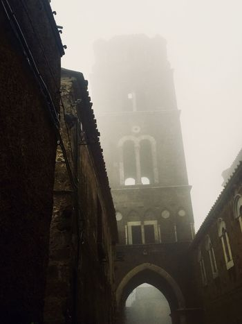 Architecture Art Architecture Built Structure Building Exterior Low Angle View Building Nature The Past History No People Fog Tourism Tower