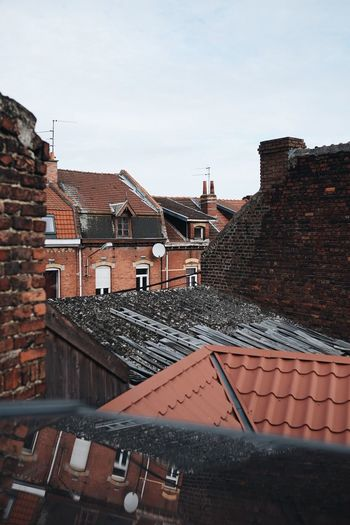 France Built Structure House Town Rooftop Travel Traveling Redbrick