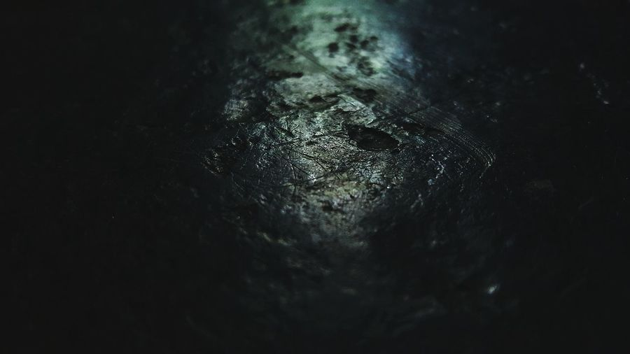 Crater Rock Frozen Black Whereami Cold Dark Flint Slate Cracked Scratched Dented Cores Gray
