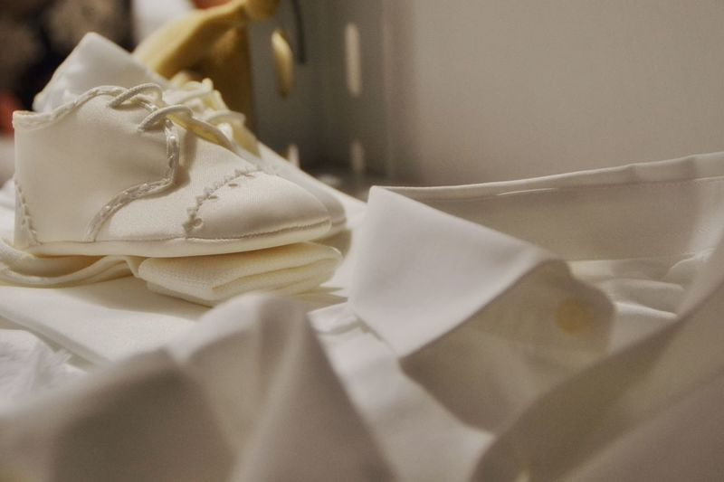 Close-up of baby clothing