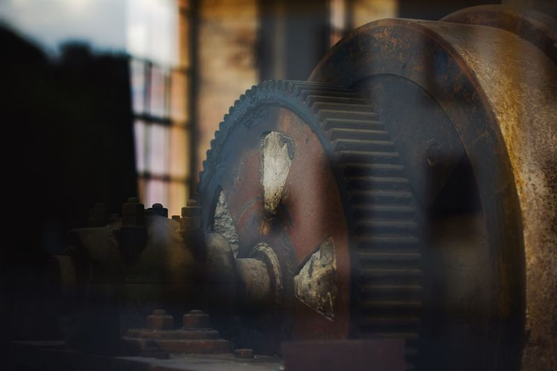 old economy, gear wheel, factory, plant, site, work, industry, windows, Hidden Gems