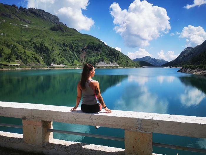 Lago di fedaia, trentino