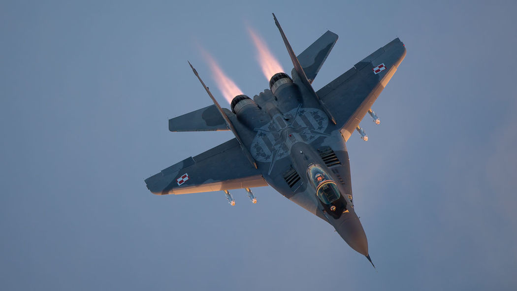 Afterburner Air Air Force Aircraft Airspace Alert Baltic Fighter Fulcrum Lithuania MiG29 Military Missiles Mission NATO Poland Policing Protection Quick Reaction Safety