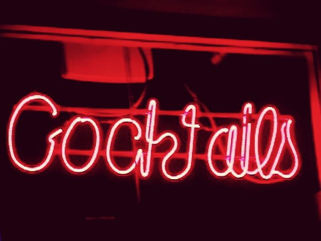 Neon Illuminated Red Night Glowing