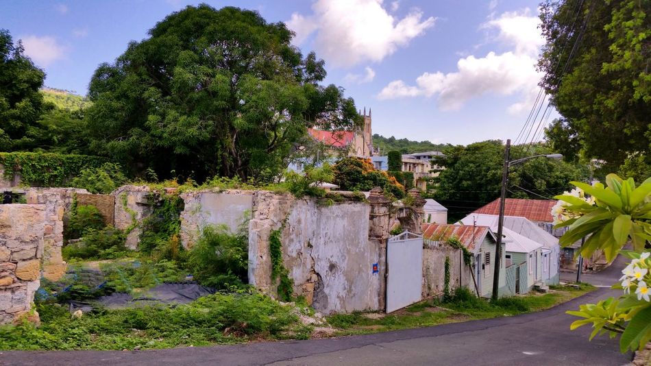 Ruins on the northern edge of Christiansted Clouds And Sky Island Scene St.Croix, US Virgin Islands