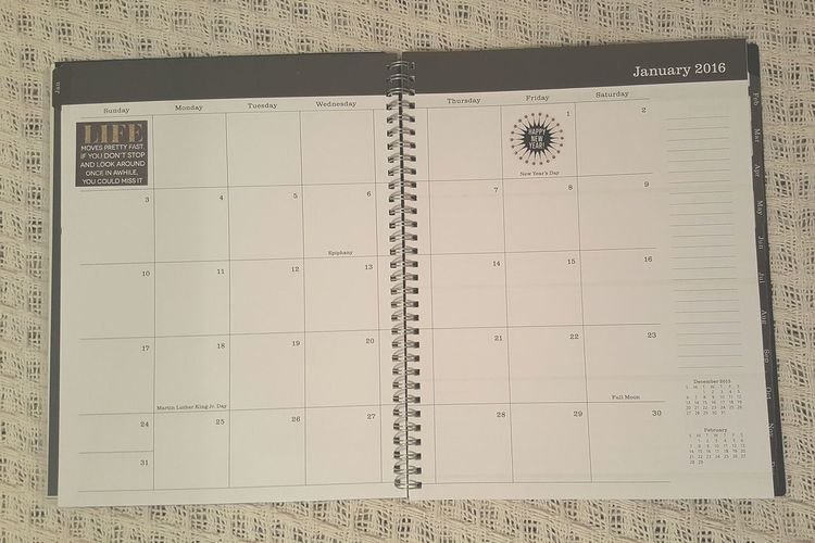 Month layout