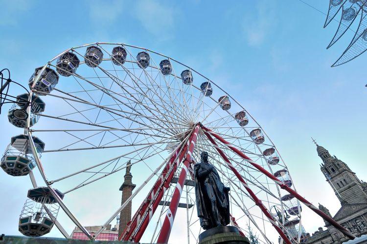 GLASGOW CITY Amusement Park Amusement Park Ride Arts Culture And Entertainment Built Structure Day Ferris Wheel Low Angle View No People Outdoors Sky