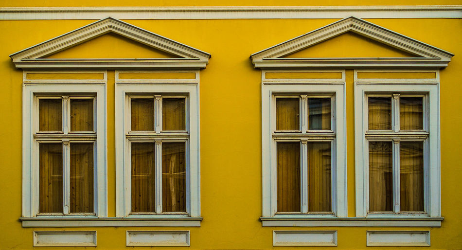 Architecture Building Exterior Built Structure No People Outdoors Window Windows Yellow