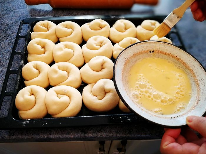 Traditional Traditional Food Romanian Food Homemade Homemade Food Dough Food And Drink Healthy Eating Lifestyles Baking Food And Drink Freshness Food Indoors  Healthy Eating Indulgence Ready-to-eat Human Hand Temptation Sweet Food Close-up Egg Yolk