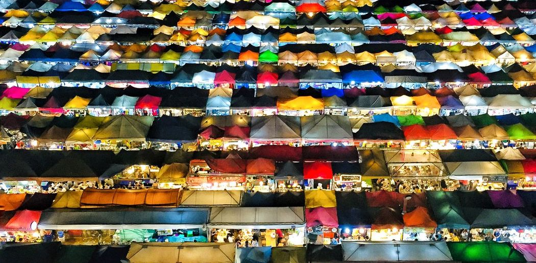 Night Market Bangkok At Night Bangkok Life... Colorful Night Lights Night Market Bangkok Multi Colored Large Group Of Objects Abundance Arrangement Full Frame Choice Backgrounds Side By Side Retail  In A Row Variation Pattern Market