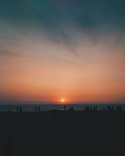 Sea Sunset Beauty In Nature Tranquility Nature Scenics Horizon Over Water Tranquil Scene Sky Water Beach Idyllic Outdoors No People Day