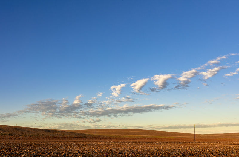 Sky Environment Land Agriculture Horizon Rural Scene No People Cloud - Sky Field Blue Tranquil Scene Tranquility