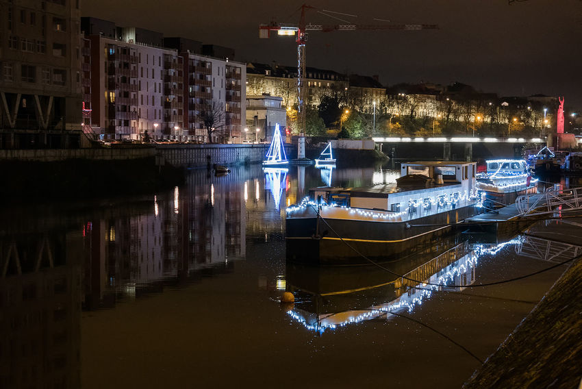 Architecture Building Exterior Built Structure City Illuminated Nautical Vessel Night No People Outdoors Sky Water Waterfront