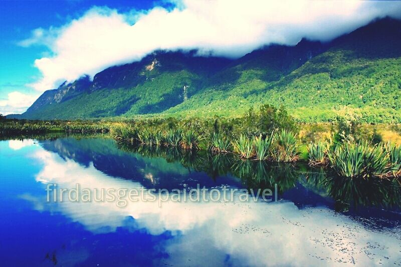 Mirror Lake at Fiordland National Park Nature Mirror Lake Beautiful Fiordland Sky Landscape Travel Cloud Vacation Tranquility New Zealand Peaceful Mountain Calm Landscapelovers Breath Taking Reflection
