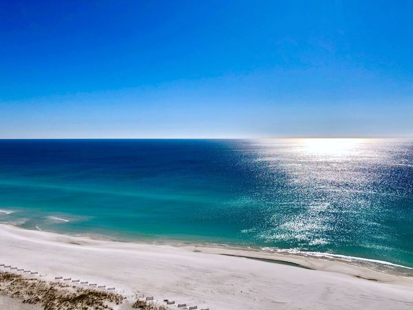 Gulf view #2 Vacation Rental Florida Pensacola Beach Gulf Of Mexico Beachlife Sea Horizon Over Water Water Scenics Blue Beach Beauty In Nature Nature Tranquil Scene Tranquility No People Outdoors Day Sky Sand Clear Sky Sunlight Vacations