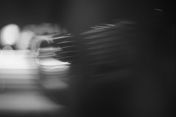 Close-up of blurred motion of city