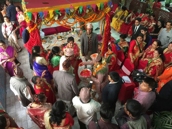 EyeEm Selects Multi Colored Traditional Festival Day Indoors  People Crowd Adult Adults Only Hindu Wedding