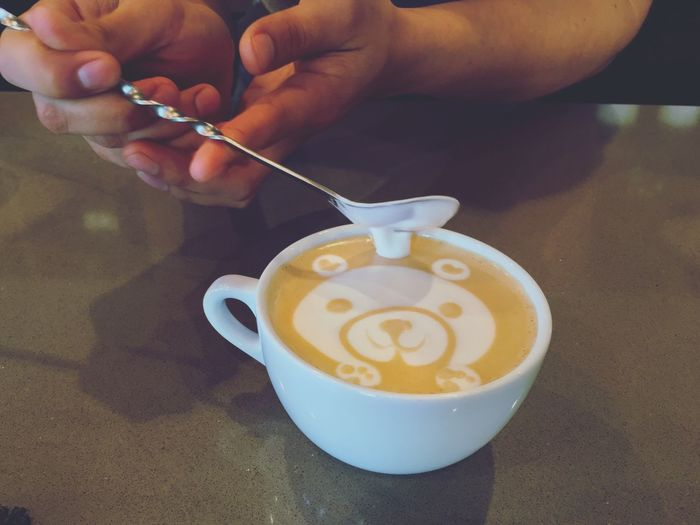 Teddybear Coffe Coffee Coffee Time Coffee Break Coffee ☕ Coffee Cup Cup Cappuccino Mocha Design Creativity Creative Talent Talented Barista Coffeehouse Always Be Cozy Drink Warm Cream Yum Yummy Flower Bear