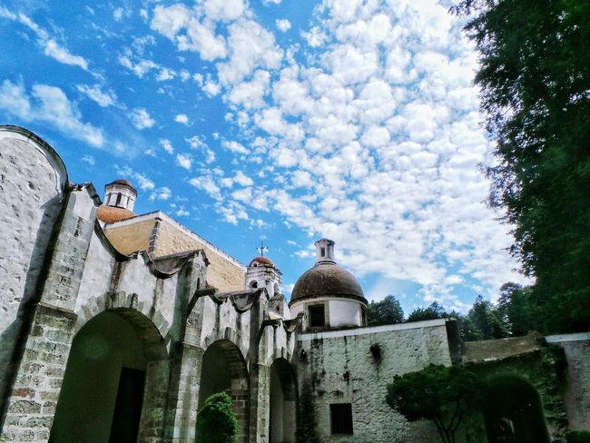 Clouds And Sky Convento Arquitectura Mexico DesiertoDeLosLeones Blue Sky Arquitecture Arquiteture Collection