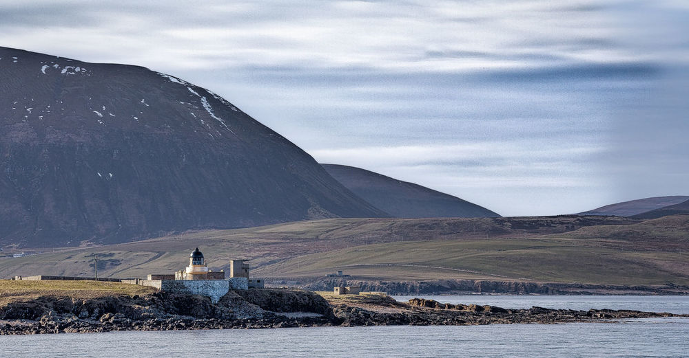 Isle Of Hoy Orkneys Beauty In Nature Cloud - Sky Cold Temperature Day Lake Landscape Light House And Blue Sky Mountain Nature No People Outdoors Scenics Sky Snow Tranquil Scene Tranquility Water Winter Weather Condition Cold Weather Shore