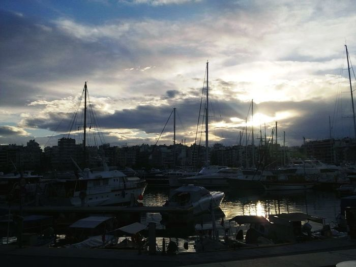 Sunset Athens Harbour Clouds And Sky No Filter Me Around The World Taking Photos Eye4photography  February