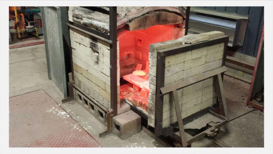 First years doing their first raku firing. Opening up the kiln. Raku Kiln In Ceramics Class Check This Out