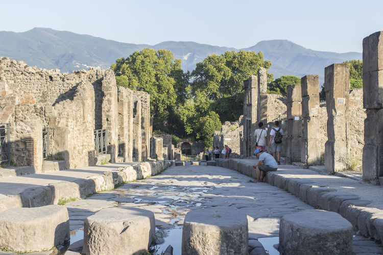 View of old ruins against sky